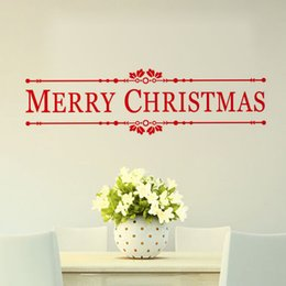 Shop Window Stickers Canada - YO-95 Merry Christmas Wall Quotes Decal Christmas Decoration Sticker DIY Home Decor Shop Window Wall Xmas Mural