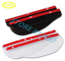 Chinese  2 pcs lot PVC Car Rear view Mirror sticker rain eyebrow weatherstrip auto mirror Rain Shield shade cover protector guard manufacturers