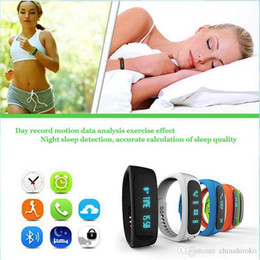 $enCountryForm.capitalKeyWord Canada - E02 Smart Wrist Smart Watch Smartband Waterproof Bluetooth Fitness Tracker Health Bracelet Sports Wristband For Android IOS Free DHL