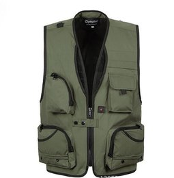Discount waistcoat chain - 2016 sale XL~5XL Pro Photography Director Waistcoat Outdoors Hiking Camping Olympia zipper vests Fashion outwear clothin