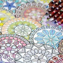 Korea 128 Pages Mandalas Coloring Book 12 Color Pencils For Adults Relieve Stress Secret Garden Art Books
