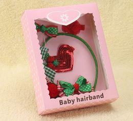 Best Gift For Xmas Australia - 6 style Girls Christmas Headband Xmas Tree Hairpin Barrettes Gifts Sets Best Christmas Gifts for Baby Tolders Girls