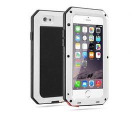 high quality cell phone cases 2019 - High Quality Armor Dirt Shock Waterproof Metal Aluminum Cell Phone Case For iphone 6 6S Case With Tempered glass Free Sh