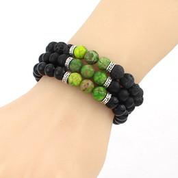 Discount custom bezel wholesale - 2016 Jewelry Mens Bracelet Beads Bracelets Women Men Fashion Accessories Wholesale new DIY custom 12 styles