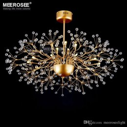 Modern Golden Glass Chandelier Lustres Hanging Light Fixture G4 Bulbs Fitting Foral Lamp For Home Indoor Living Room Bedroom