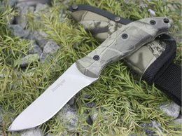 Discount echo tools Kershaw Echo 1070C Tactical Fixed Blade Knife 8Cr13Mov Camouflage Handle Titanium Blade Hunting Survival Pocket EDC Tool