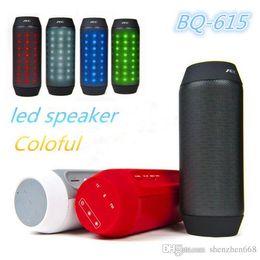 Speaker Free NZ - BQ-615 Mini Bluetooth 3.0 Portable Speaker LED Light Adjustable Wireless Stero HiFi Car Hands-free Outdoor Sports Subwoofer FM TF MP3 T-YX