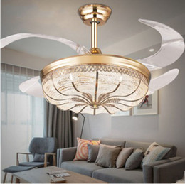 Folding ceiling fans nz buy new folding ceiling fans online from 42 inch gold modern led retractable ceiling fans with lights living room home decoration folding ceiling fan lamp 220 volt llfa aloadofball Images