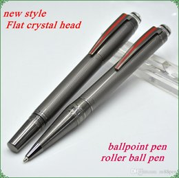 $enCountryForm.capitalKeyWord Canada - High Quality gray PVD-plated fittings ballpoint pen   Roller ball pen with star office stationery luxury Writing ball pens MBHD2014