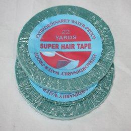Ingrosso 1 rotolo di nastro biadesivo per remy Germania con nastro blu per capelli e estensione in pelo di trama in PUsinging100% colla Athenic super per parrucche