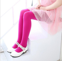 Wholesale kids wear tights resale online - Hot sale year kids dance wear pantyhose girl Candy Color Leggings socks Underpants kids sport tights