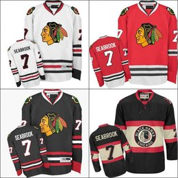 54ea3b030 2017 Chicago Blackhawks Hockey Jersey  7 Brent Seabrook Home Red White  Jersey Authentic Stitched Jerseys
