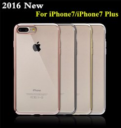 Wholesale cases iphone5 for sale - Group buy High Quality iPhone TPU Case Ultra Thin Clear Crystal Rubber Plating Electroplating TPU Mobile Phone Case For iPhone7 iPhone5 plus