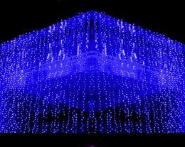 $enCountryForm.capitalKeyWord Australia - 10x1.5M meter Weding 488LED Curtain Lights Holiday leds Christmas Garden Decoration Party Flash Fairy curtain String Light Free Shipping