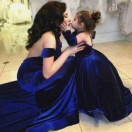 New mother daughter matchiNg dresses online shopping - 2016 New Arrival Mother Mother of the Bride Dress Matching Daughter Dresses Royal Blue Evening Formal Party Gowns Custom Made