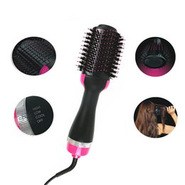 Air Brush Hair Styler NZ - One Step Hair Dryer & Styler Hot Air Paddle Brush Negative Ion Generator Salon Hair Straightener for All