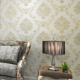 $enCountryForm.capitalKeyWord NZ - European Luxury Modern Wallpapers Non-woven Mural Wall papers Roll Golden Beige Living Room Sofa TV Background 10M 3D Wall Paper