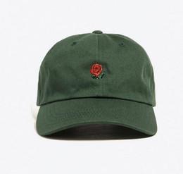 Exclusives Hats Canada - 2016 New Exclusive customized design 6 panel cap Rare Rose Strap Back Cap men women Adjustable polos snapback caps baseball hats