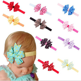 baby girl hair designs 2019 - Newly Design Lovely Sweet Children's Elastic Force Hair Band Princess Baby Girl Round Dot Bowknot Leopard Hairband