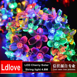 $enCountryForm.capitalKeyWord Canada - 15.75ft 4.8M 20 Led Solar Outdoor Cherry Blossom String Lights, Multi-Color Fairy Light for Garden, Patio, Lawm, Christmas Party Decoration