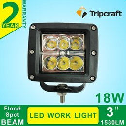 """Road Atv Canada - 2Pc 4"""" inch 18W LED Work Light Lamp for Motorcycle Tractor Boat Off Road 4WD 4X4 Truck SUV ATV Spot 12V 24V"""