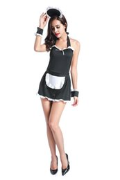 Hot Sexy Lingerie Women Costume NZ - Hot Selling 2017 Women Sexy Maid Costume Halloween Christmas Carnival Costume sexy lingerie hot