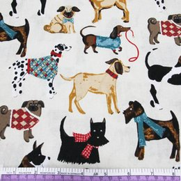 $enCountryForm.capitalKeyWord NZ - 45426 50*147CM*3 Various dogs printed cotton fabric for Tissue Kids Bedding textile for Sewing Tilda Doll, DIY handmade materials