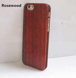 handmade wood phone cases Canada - Handmade Wooden Phone Case For Iphone 6 6s 6 Plus Bamboo Hard Cover For Apple Iphone 7 7 plus Wood+PC Back Shell Housing