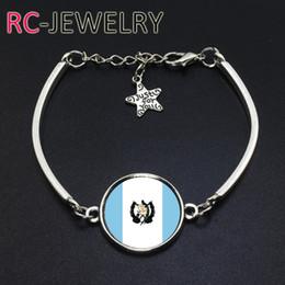 Cup Chain Settings Australia - 2017 Fashion Jewelry Guatemala football team Flag bracelet Hand-made World Cup Alloy bracelet Bracelet Bangle