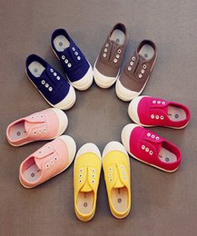 $enCountryForm.capitalKeyWord Australia - Kids Shoes cheap kids Shoes Canvas Shoes Boys Girls Solid Color Casual Studen Flats Baby Candy Color Soft Bottom Toddler Shoes