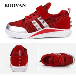 Tissu De Vente De Crochet Pas Cher-Chaussures de tennis tricotées Hot Sale Kids Toddle Shoes Chaussures de course en gros 2017 Coréen Koovan Big Kids Shoe High Quality Free Ship K341