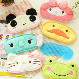 Barato Olhos Bonitos Do Remendo Do Sono-Cute Little Animal Shading Sleep Patch Icehot Compress Travel Patch Belt pode ser ajustado Eye Mask