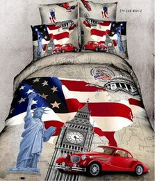 3d Printed Bedding Sets Canada - Wonderful New 3D Bedding Sets Reactive Printing American wind car clock bedding sets pcs Quilt Duvet Cover Bed Sheet Pillowcase Queen