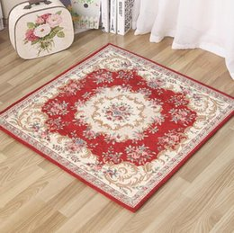 90x90cm Country Style Living Room Decorative Carpet Computer Chair Mat  Bedroom Bedside Rugs