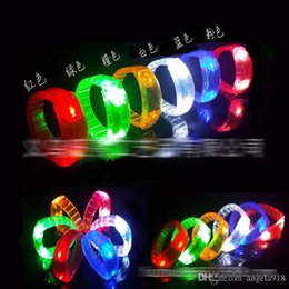 new led flashing bracelet light up bangle wristband night club activity party bar disco cheer christmas halloween party decoration e1690