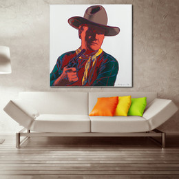 $enCountryForm.capitalKeyWord Canada - 1 Pcs Warhol John Wayne Oil Painting Wall Art Canvas Decorative Living Room Painting Wall Painting Picture No Frame