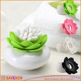 $enCountryForm.capitalKeyWord Canada - Lotus Flower Cotton swab box lotus cotton bud holder base room decorate   Lotus Toothpicks holder plastic box