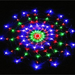 online shopping m Leds modes V V Colorful Spider Web Led Fairy string Lights Festival Party Layout Hotel Chandelier Net Lights