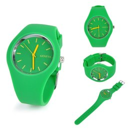 Glasses Trade Australia - Foreign trade selling watches fashion watches slim Geneva GENEVA Ms. Factory direct fashion Hot Silicone Watch Students