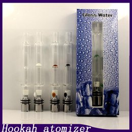 atomizer pipes Canada - Pyrex Glass Water Atomizer Hookah Pen Smoking Pipes E Cig Tank Dry Herb Wax Vaporizer Glass Shisha Atomizer For EGO Evod Battery 0266094-2