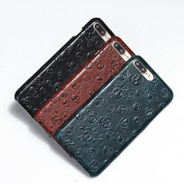 Iphone 3d Skull NZ - Natural Real Genuine High Quality Leather Cover Case For Apple iPhone 7 7 Plus Cell Phone Luxury 3D Pirate Skull Shell Cases