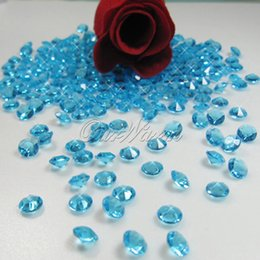 China 1000pcs 6.5mm 1Carat Acrylic Crystal Diamond Confetti for Wedding Event Party Table Vase Decoration suppliers