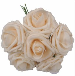 Roses Factories NZ - Factory Direct sale PolyFoam Top Quality Rose 7cm Head Wedding Flower Table Decoration rose foam Free Shipping