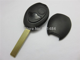 $enCountryForm.capitalKeyWord Canada - 2 Buttons Uncut Blade Remote Car Key Case Shell Fob Key Cover for BMW Mini Cooper R50 R53 Alarm Systems Security