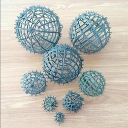 baciare il diametro della struttura della sfera della palla plactic di 20cm, buona decorazione del partito della sfera del fiore diy libera il trasporto FB010 in Offerta