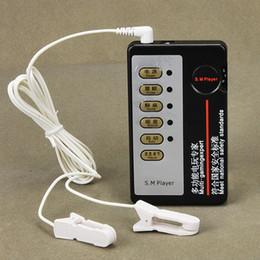 Home Therapy Equipmen Pinzas de pezón Pezones de choque eléctrico Clips Set Masajeador de mamas Femenino Pulso Terapia Física de Juguete para Mujeres I9-1-11