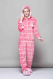 5e3be72790 Pink Women pajama sets Animal cartoon sleep cosplay Flannel Onesies Adult  women sleepwear theme costume animal pink pajamas adult HML-006