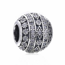 Clear Balls UK - TopeasyJewelry New items Glittering Shapes Clear CZ Charm Bead 925 Sterling Silver CZ Ball Bead For Women Bracelet DIY Jewelry Making