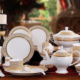free shipping 70 fine bone china jingdezhen ceramic tableware suit harvest upscale authentic ceramic