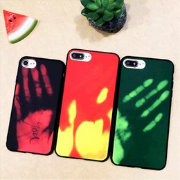 Discount color change phone case - Color Changing Thermal induction Phone Case for iPhone X 8 7 plus 6 6s Samsung S8 plus Cover Soft TPU Cover DHL free SCA